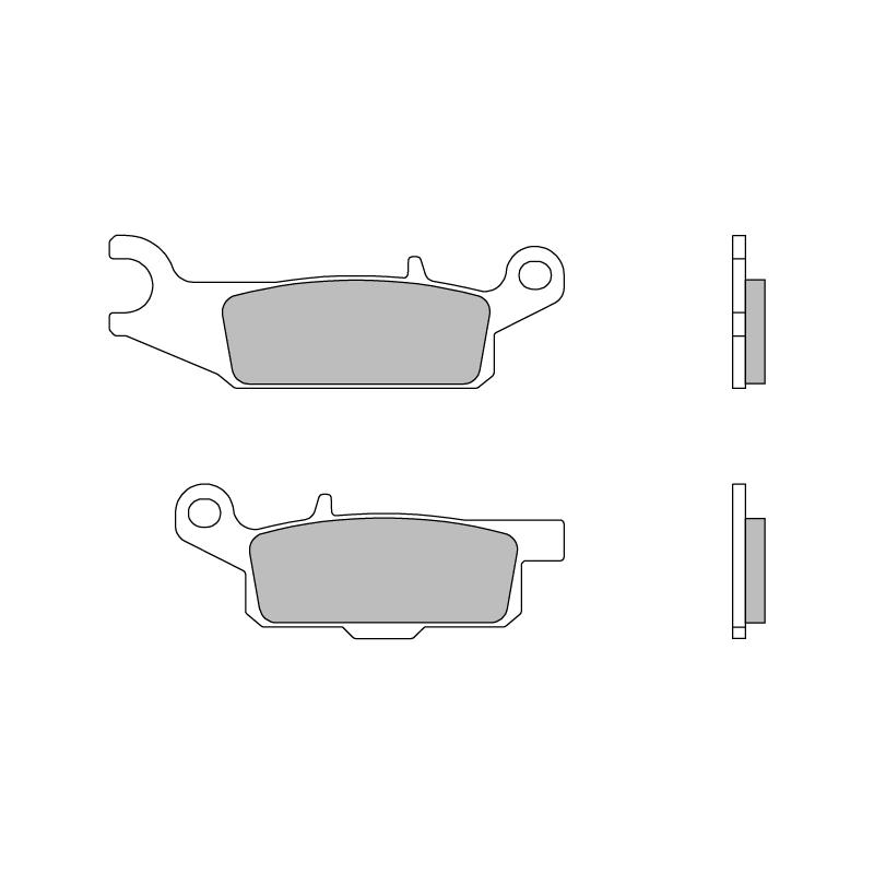 Тормозные колодки Brembo 07YA48SD Off Road, арт: 10195 - Тормозная система