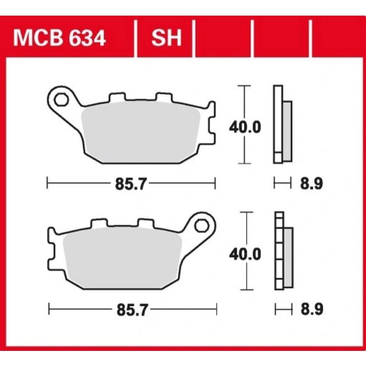 Тормозные колодки Trw/Lucas MCB634, арт: 10370 - Тормозная система