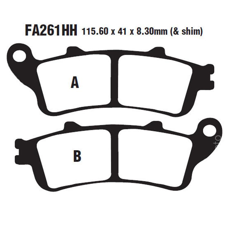 Тормозные колодки EBC FA261HH, арт: 10375 - Тормозная система