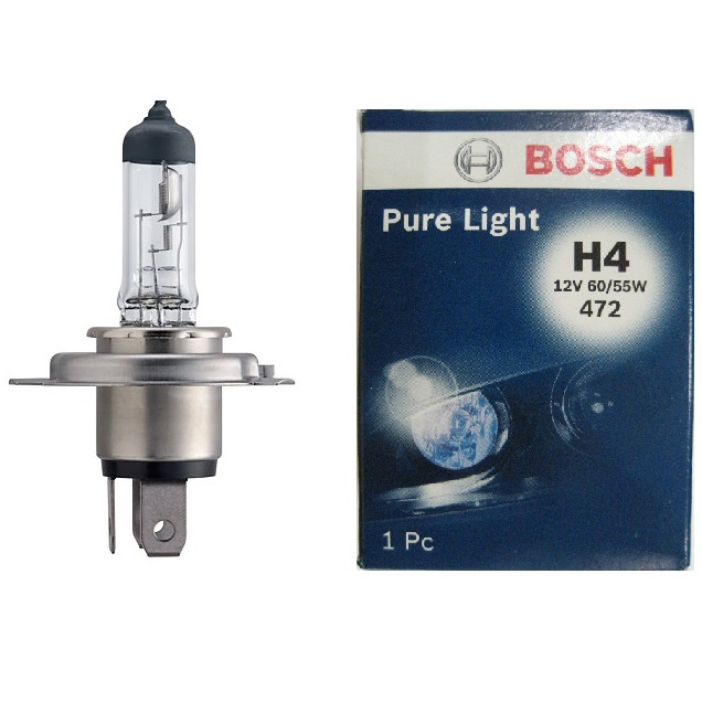 Лампа накаливания H4 12V 60/55Вт Bosch pure light, арт: 10475 - Лампы