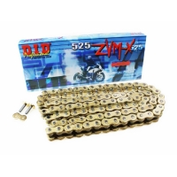 Цепь DID 525-112 ZVM-X Super Street X-Ring Gold&Gold ZJ