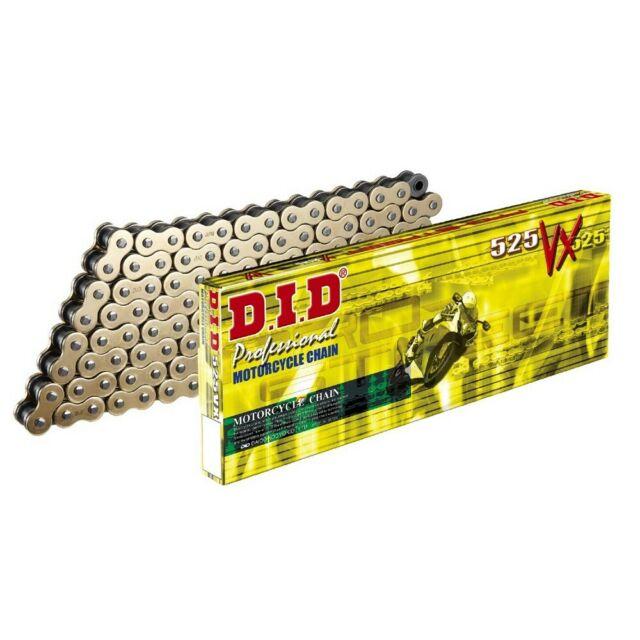 Цепь DID 525-112 VX Gold Black X-ring ZJ, арт: 10532 - Цепи #525#