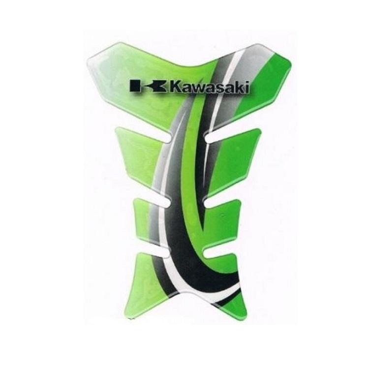 Наклейка на бензобак IXS Kawasaki зеленая, арт: 10534 - Наклейки защитные