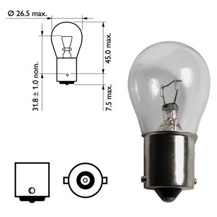 Лампа накаливания P21W 12V 21Вт Narva, арт: 10584 - Лампы