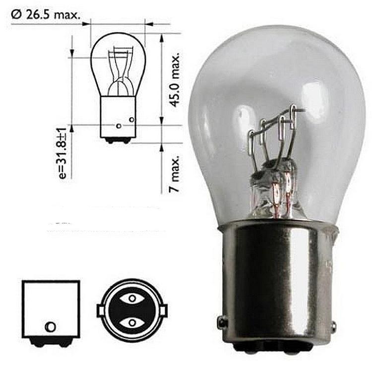 Лампа накаливания P21/5W 12V 21/5Вт Bosch, арт: 10587 - Лампы