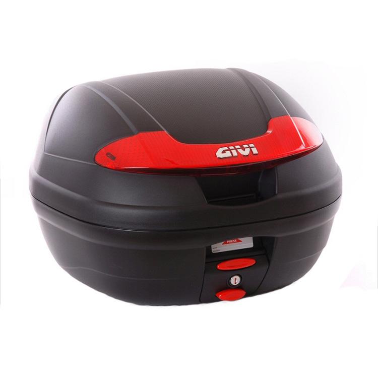 Кофр центральный(верхний) Givi E340 Vision Monolock® 34л с красными катафотами, арт: 10597 - Кофры пластиковые/алюминиевые