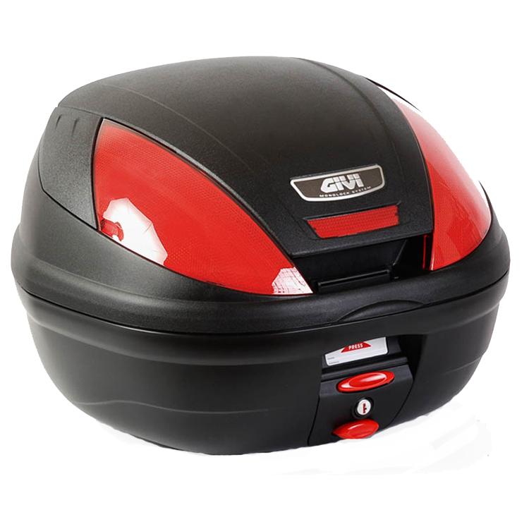 Кофр центральный (верхний) Givi E370N Monolock® 39л черный, арт: 10626 - Кофры пластиковые/алюминиевые
