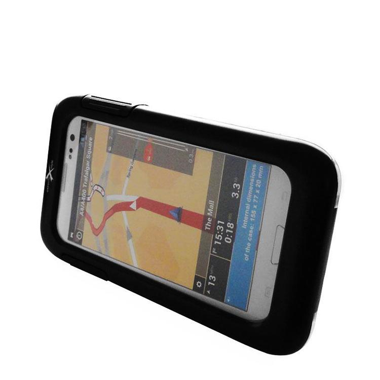 Чехол для телефона пластиковый 85мм х 162мм с креплением на руль, арт: 10704 - Сумки на руль, держатели для телефонов
