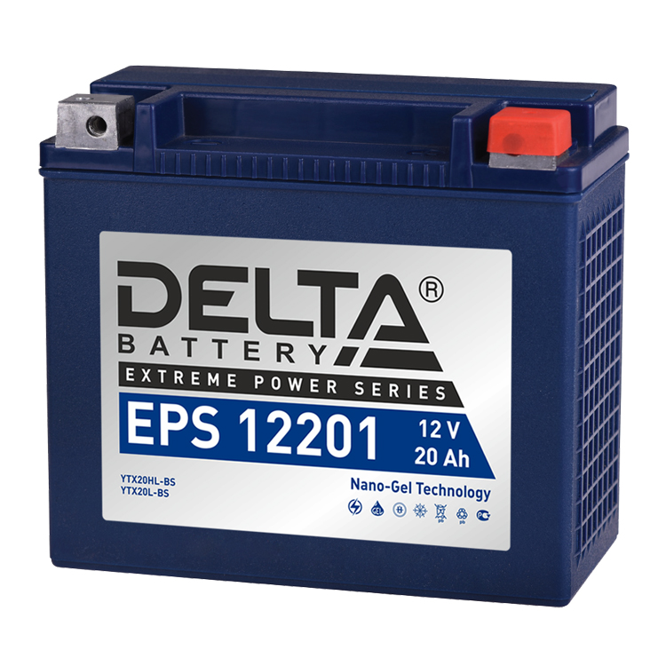 Аккумулятор Delta EPS 12201 12V/20А/ч, арт: 10751 - Аккумуляторы Delta