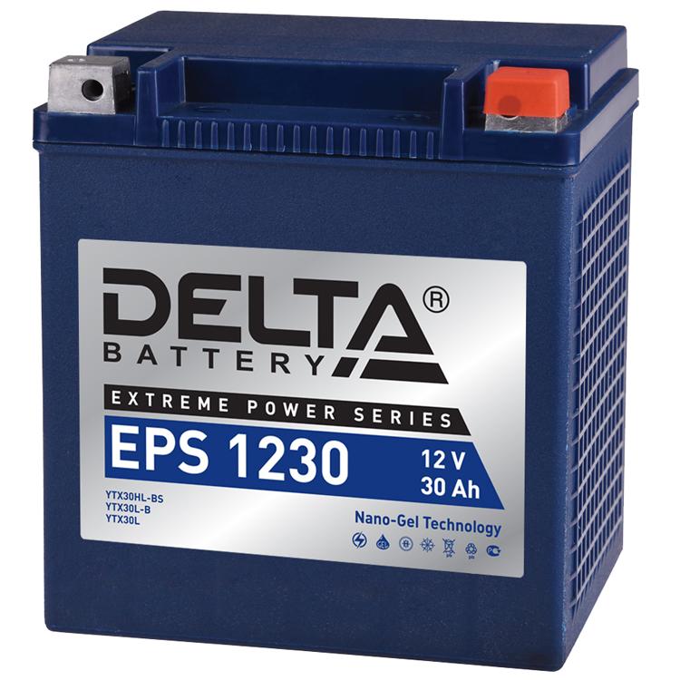 Аккумулятор Delta EPS 1230 12V/30А/ч, арт: 10752 - Аккумуляторы Delta