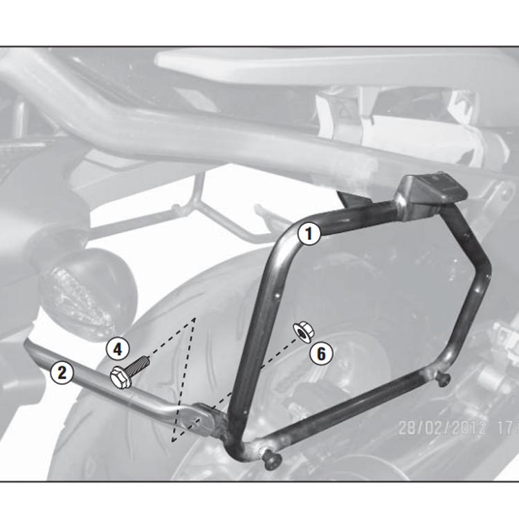 Крепление боковых кофров Kappa для Honda NC700X (2012-2013), арт: 10943 - Системы крепления и площадки для кофров