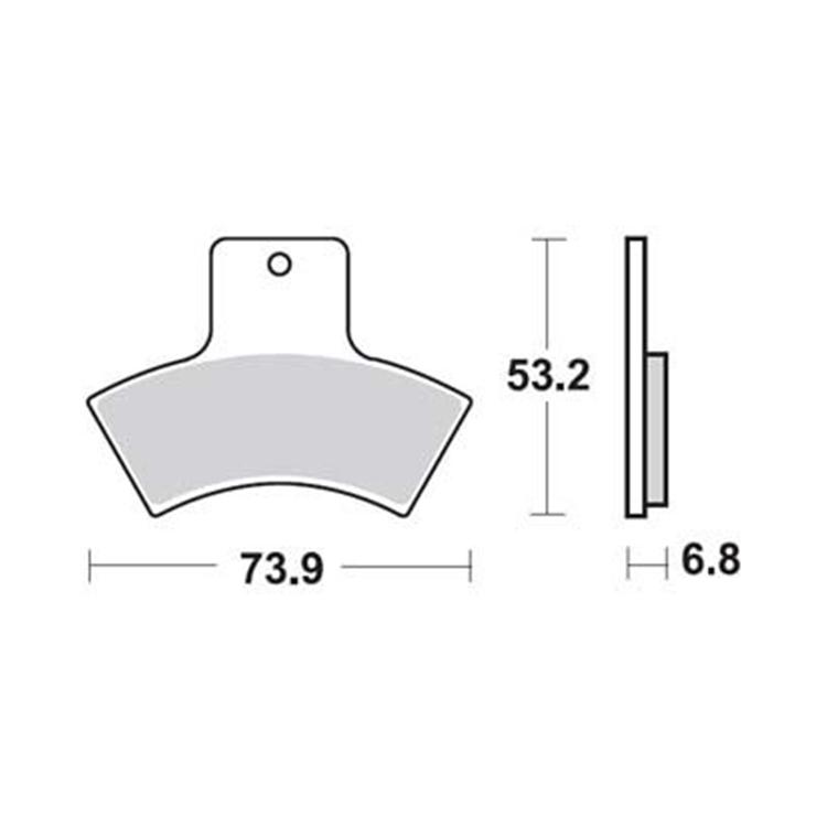 Тормозные колодки Trw/Lucas MCB762SI, арт: 11133 - Тормозная система