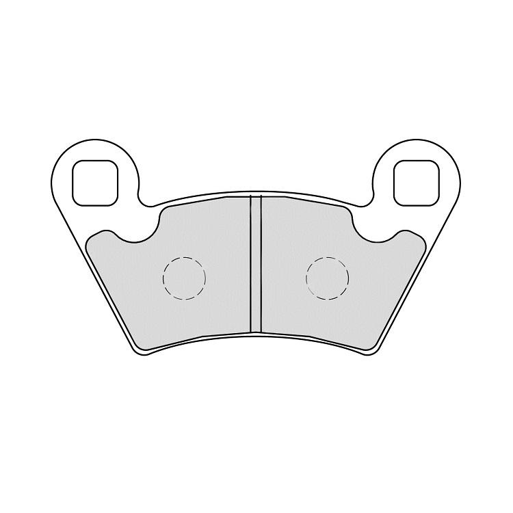 Тормозные колодки Ferodo FDB2236 Sinter Grip, арт: 11178 - Тормозные колодки