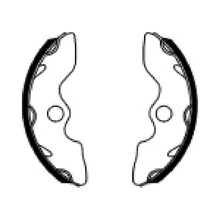 Тормозные колодки барабанные Ferodo FSB945, арт: 11188 - Тормозные колодки