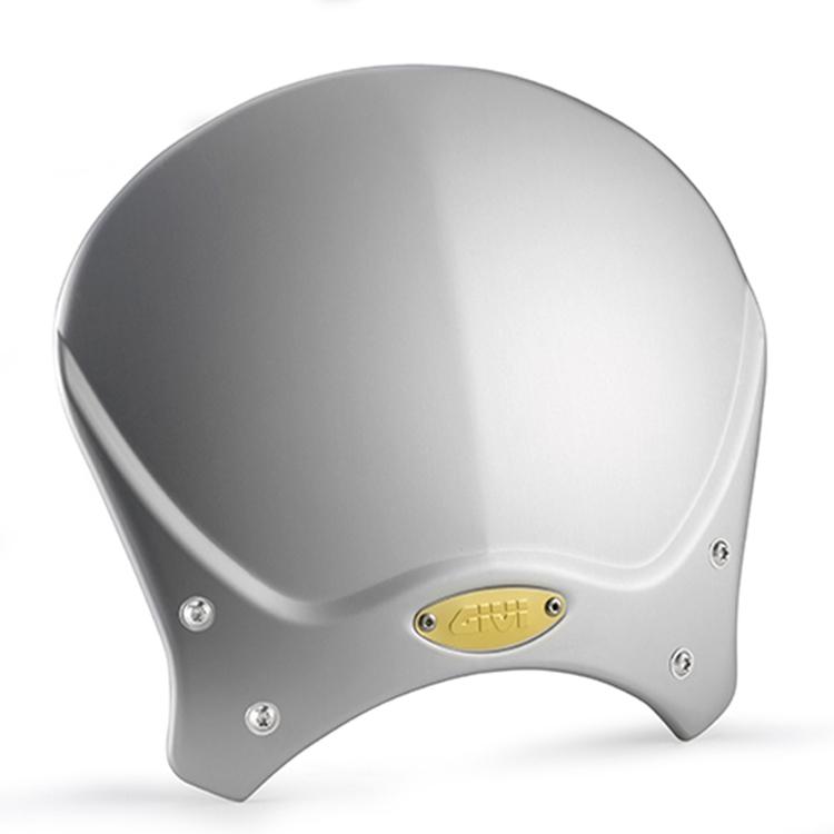 Стекло ветровое универсальное GiVi 100AL для Naked bike Серое, арт: 11384 - Универсальные стекла