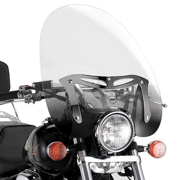 Крепление универсальных ветровых стёкол A23/A41N на Honda VT Shadow 750 (04 &gt  14), арт: 11442 - Крепления ветровых стекол