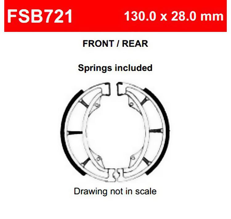 Тормозные колодки барабанные Ferodo FSB721 Eco Friction, арт: 12410 - Тормозные колодки