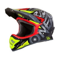 Шлем кроссовый O'Neal 3-series HELIUM Black/Yellow/Red (XL)