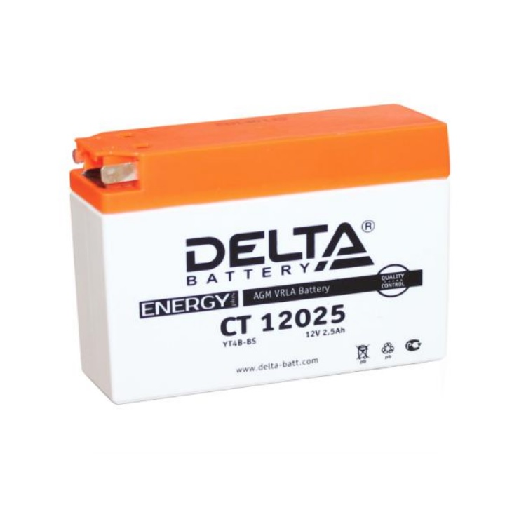 Аккумулятор Delta moto 12V CT 12025/2.5 а/ч 30А, арт: 3217 - Аккумуляторы Delta
