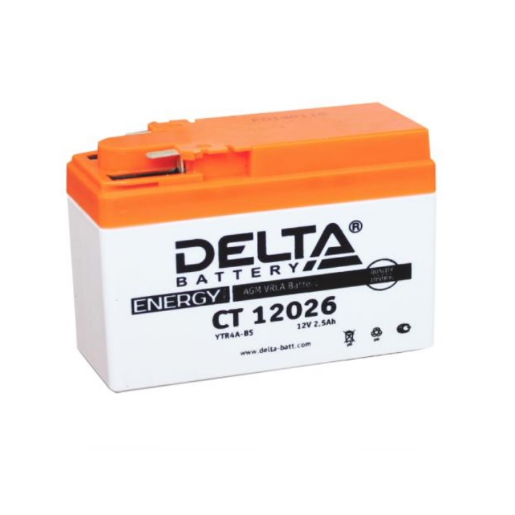 Аккумулятор Delta moto 12V CT 12026/2.5 а/ч 35А, арт: 3218 - Аккумуляторы Delta
