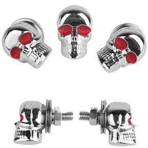 Болт крепления номера  череп  шт, арт: 3266 - Крепления номера, рамки