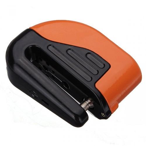 Замок на тормозной диск мотоцикла с сиреной. Оранжевый, арт: 3386 - Защита от угона
