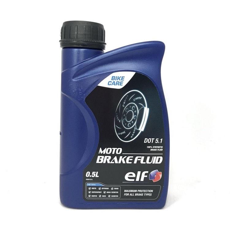 Тормозная жидкость Elf /Moto Brake Fluid DOT5.1 0.5л., арт: 4026 - Тормозная жидкость антифриз