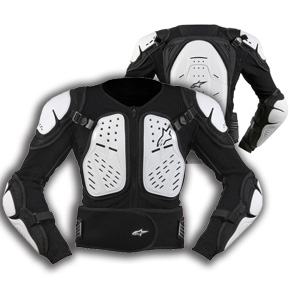 Черепаха Alpinestars Bionic черно-белая р.L, арт: 4325 - Черепахи