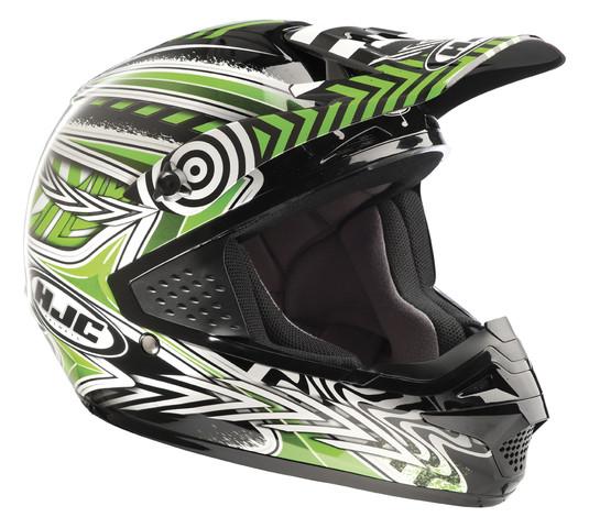 Шлем кроссовый HJC CS-MX CHARGE MC-4 р. XS, арт: 4445 - Шлем кроссовый