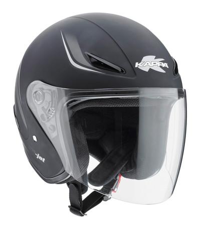 Шлем открытый черный матовый Kappa KV-3, арт: 4465 - Шлем открытый
