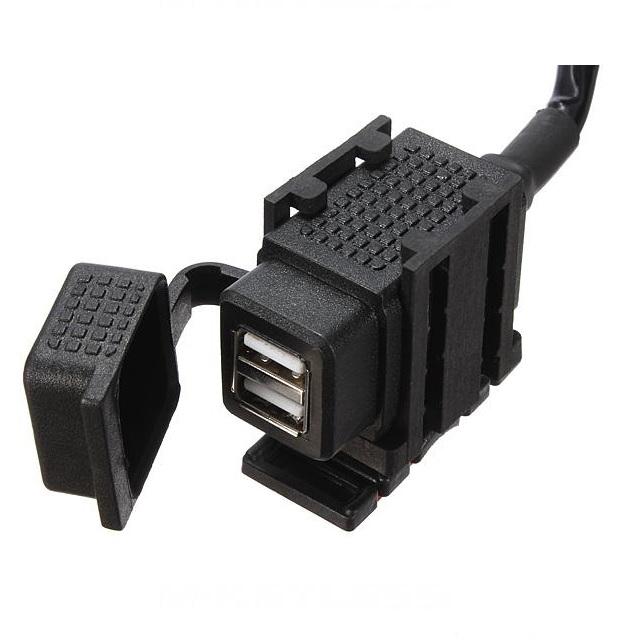 Розетка USB для мотоцикла\квадроцикла влагозащищенная 2А, арт: 4768 - Прикуриватели