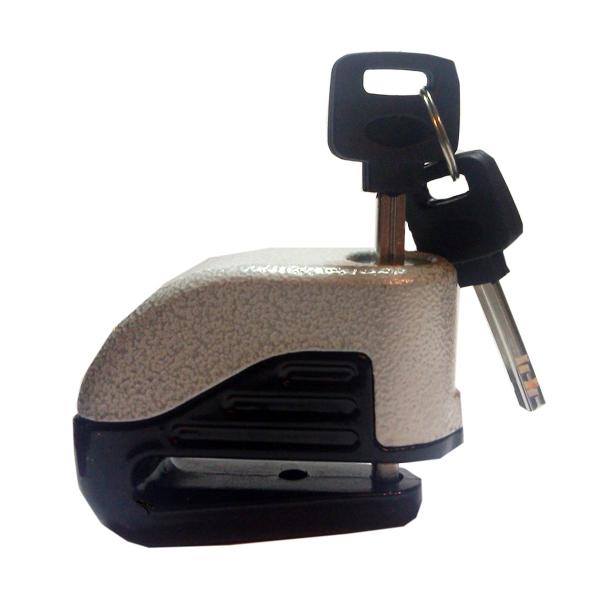 Замок на тормозной диск мотоцикла с сиреной. Серый, арт: 4780 - Защита от угона
