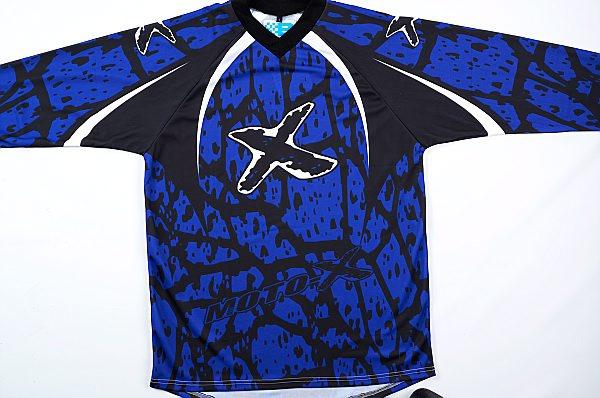 Кофта кроссовая (джерси) MotoX синяя р.S, арт: 4843 - Кофты