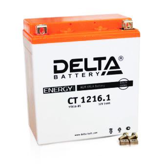 Аккумулятор Delta moto 12V CT 1216.1 16 а/ч (R+) 230A, арт: 4897 - Аккумуляторы Delta