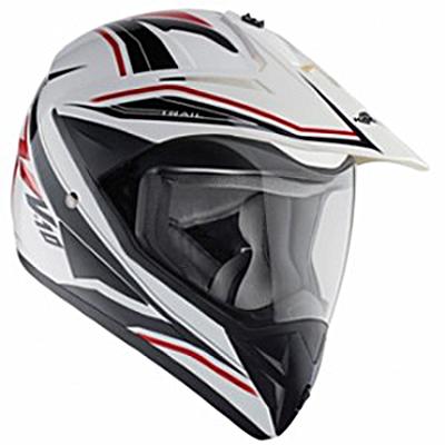 Шлем Туристический (эндуро\кросс) Kappa KV-10 белый\графика, арт: 5241 - Шлем кроссовый