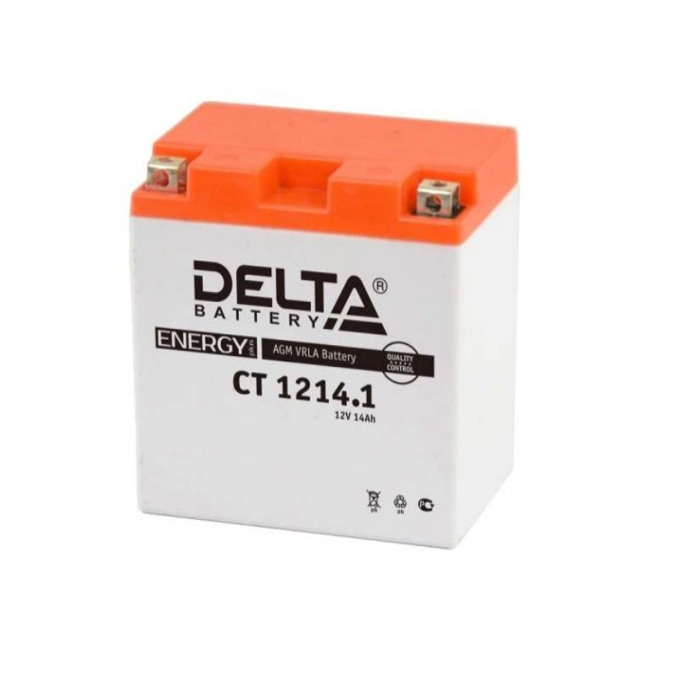 Аккумулятор Delta moto 12V CT 1214.1/14 а/ч (L+)165А, арт: 5497 - Аккумуляторы Delta