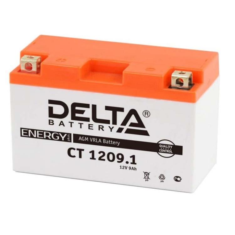 Аккумулятор Delta moto 12V CT 1209.1/9 а/ч (L+)115А, арт: 5688 - Аккумуляторы Delta
