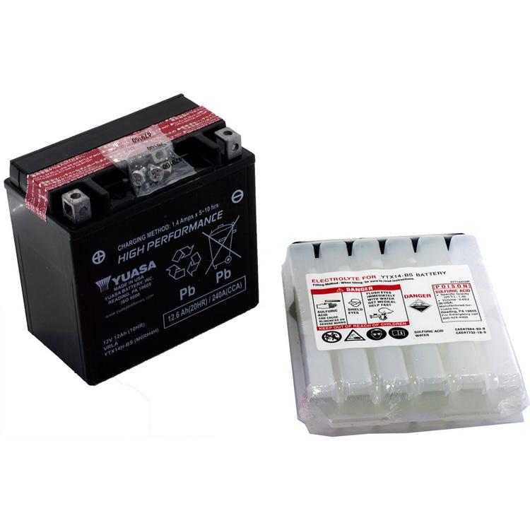 Аккумулятор Yuasa YTX14H-BS (cp), арт: 7077 - Аккумуляторы Yuasa