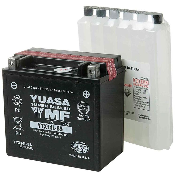 Аккумулятор Yuasa YTX14L-BS (cp), арт: 7078 - Аккумуляторы Yuasa