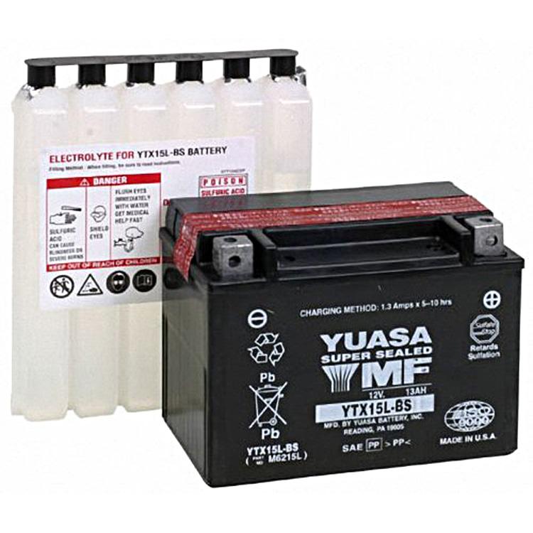 Аккумулятор Yuasa YTX15L-BS (cp), арт: 7079 - Аккумуляторы Yuasa