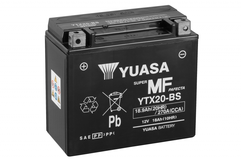 Аккумулятор Yuasa YTX20-BS (cp), арт: 7082 - Аккумуляторы Yuasa