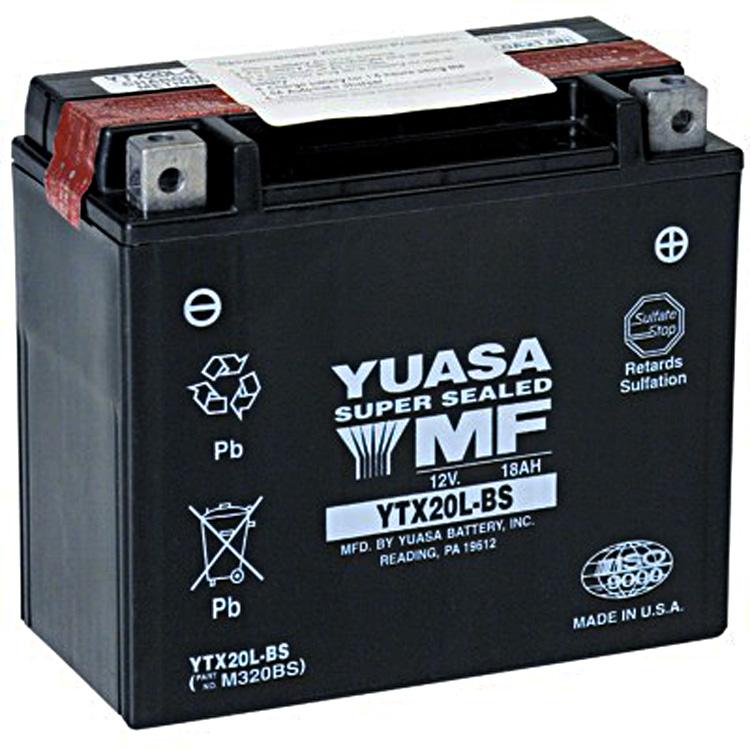 Аккумулятор Yuasa YTX20L-BS (cp), арт: 7087 - Аккумуляторы Yuasa