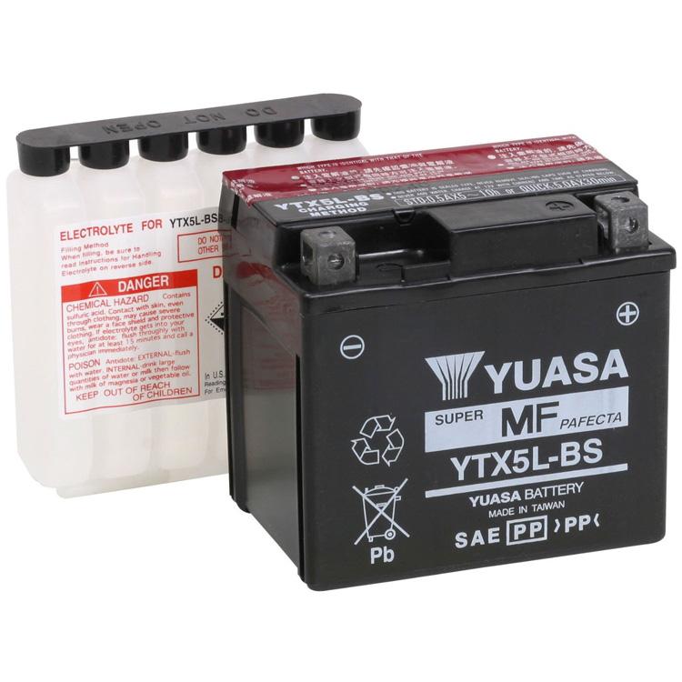 Аккумулятор Yuasa YTX5L-BS (cp), арт: 7089 - Аккумуляторы Yuasa