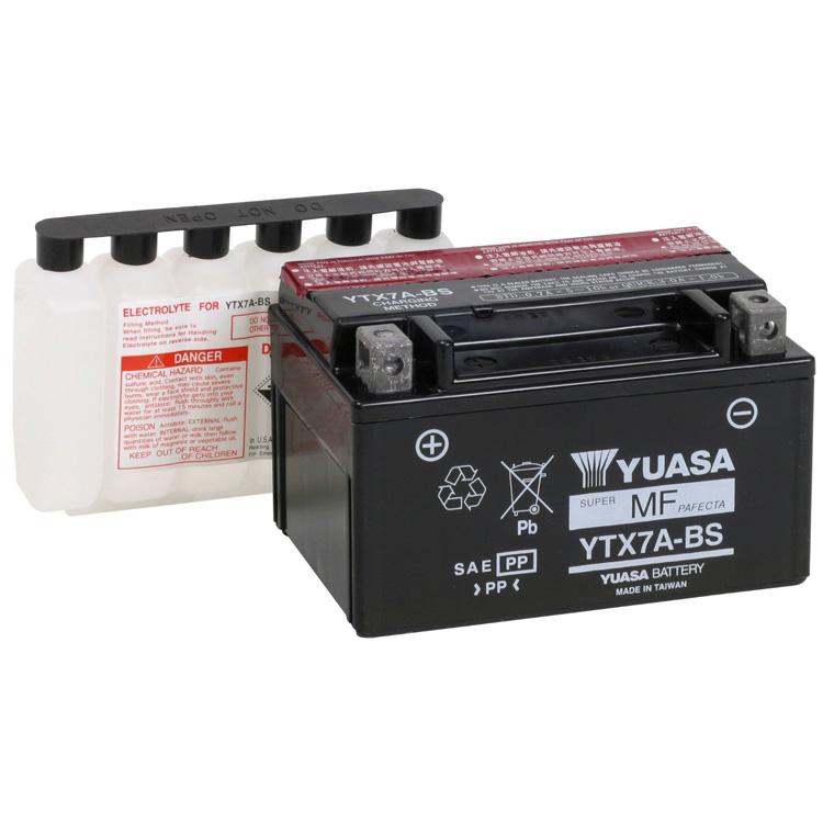 Аккумулятор Yuasa YTX7A-BS (cp), арт: 7090 - Аккумуляторы Yuasa