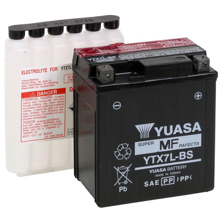 Аккумулятор Yuasa YTX7L-BS (cp), арт: 7091 - Аккумуляторы Yuasa