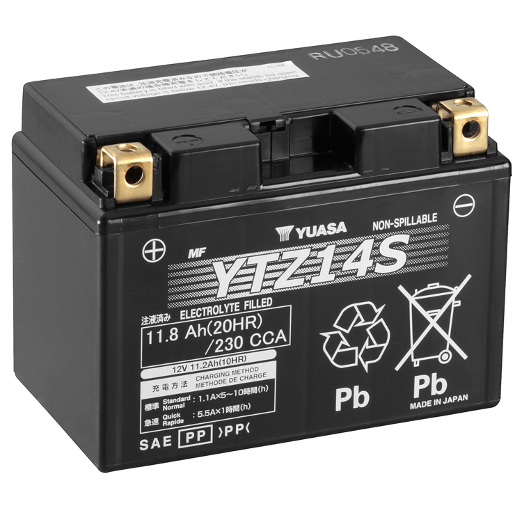 Аккумулятор Yuasa YTZ14S (wc), арт: 7095 - Аккумуляторы Yuasa