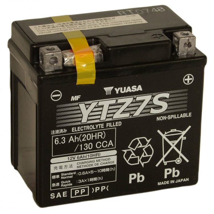 Аккумулятор Yuasa YTZ7S (wc), арт: 7096 - Аккумуляторы Yuasa