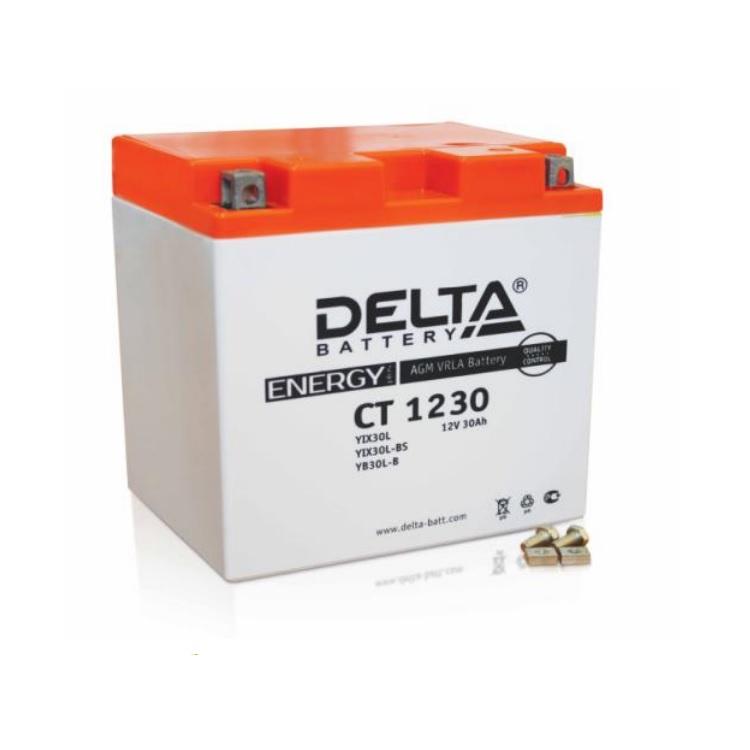 Аккумулятор Delta moto 12V CT 1230/30 а/ч (L+)300А, арт: 7282 - Аккумуляторы Delta