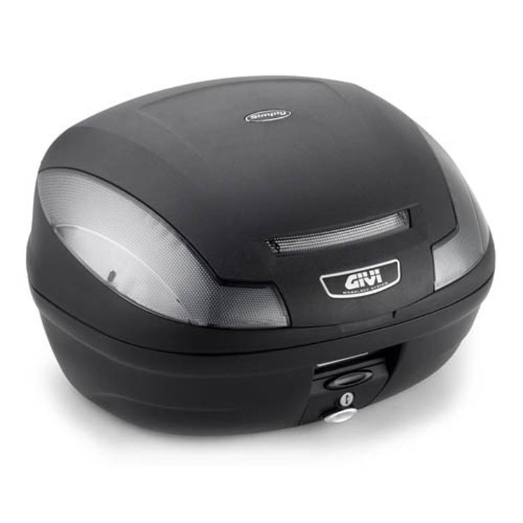 Кофр центральный(верхний) Givi E470 Tech 47л Monolock simply, арт: 9113 - Кофры пластиковые/алюминиевые