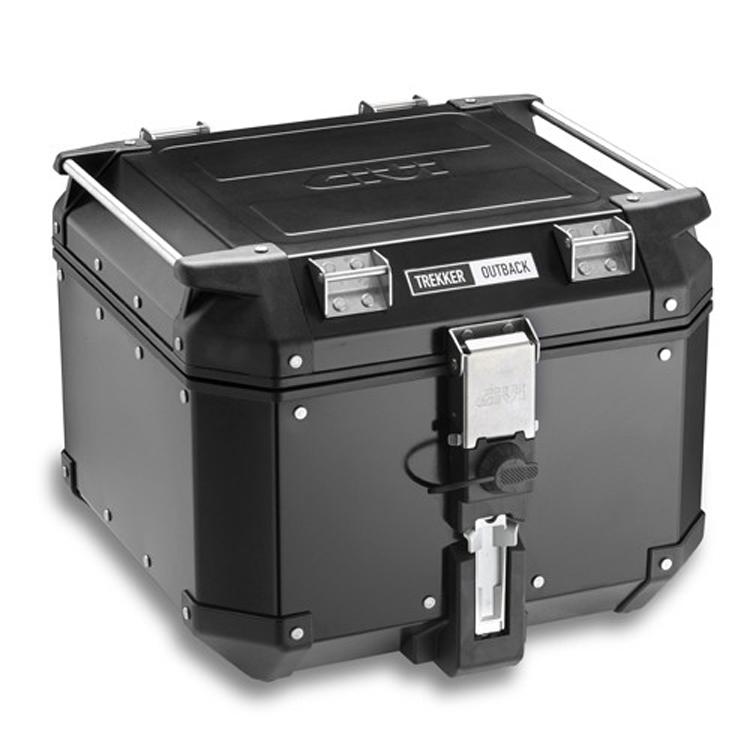 Кофр центральный (верхний) Givi Trekker Outback 42л черный алюминиевый, арт: 9119 - Кофры пластиковые/алюминиевые